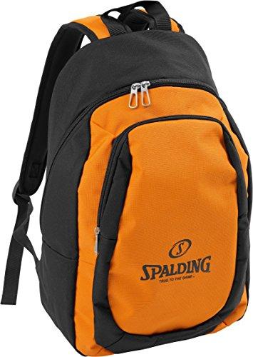 Spalding Essential Mochila, Unisex niños, Multicolor (Naranja/Negro), 15x24x45 cm (W x H x L)