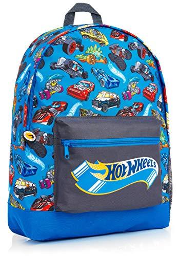 Hot Wheels Mochilas Escolares, Material Escolar para Niños, Mochila Infantil con Estampados de Coches para Colegio Viajes Deportes, Regalos Originales para Niños Niñas y Adolescentes