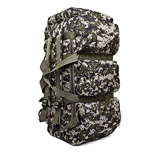 Bolsas de Lona de Escalada de montaña al Aire Libre 90L Bolsa de Alpinismo de Camuflaje Mochila táctica Militar de Gran Capacidad para Acampar
