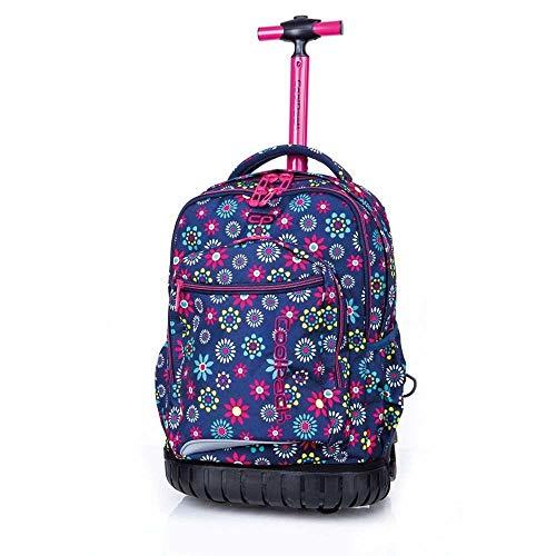 Coolpack Swift Hippie Daisy, Mochila con Ruedas, Multicolor