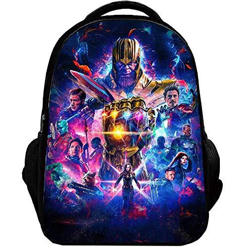 Avengers Endgame Mochila Casual Colorido Impreso Escuela Primaria Nylon Mochila Escolar Estudiantes Niños Niños Uso Diario (Color : A23, Size : 29 X 18 X 42cm)