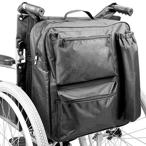 Bolsa de ruedas multifunción | Mochila universal Scooter de movilidad | Acolchado Trasero Multi - Bolsillo Almacenamiento de alta calidad impermeable | Pukkr