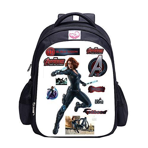 Avengers Endgame Mochila Casual Color sólido Impreso Escuela Primaria Mochila de Nylon Estudiantes de la Escuela Niños Niños Uso Diario Unisex (Color : A11, Size : 32 X 17 X 42cm)