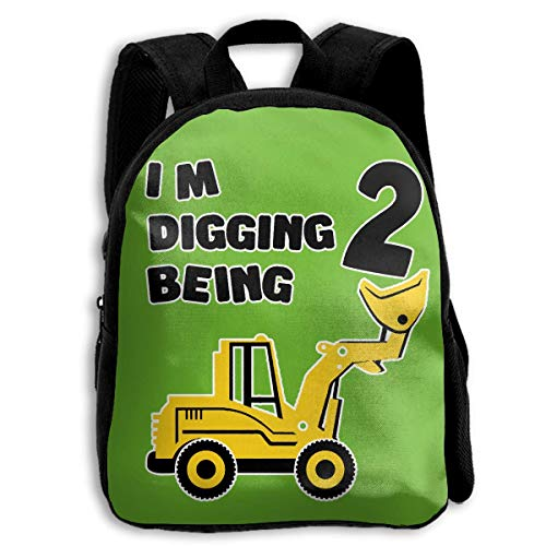 sghshsgh Mochilas Tipo Casual Create Magic 2nd Birthday Bulldozer Construction PartyKid's Backpack Shoulder Bags 13.4 Inches 2nd Birthday Bulldozer Construction Party 11One Size Bookbag
