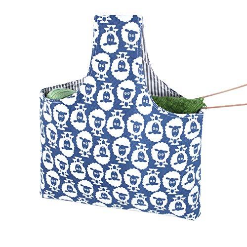 Teamoy Bolso de Ovillos Bolsa en Mano de Tejer Bolsos para Agujas Mochila de Crochet (grande, Alpaca)