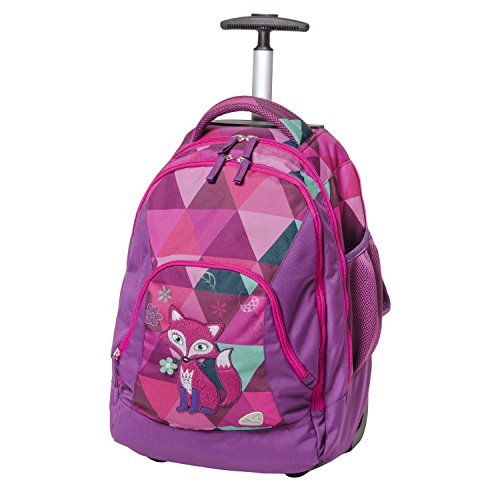 Schneiders Vienna 42483-074 Scoot Frieda The Fox - Mochila con ruedas (2 compartimentos con cremallera, 31 L), color morado