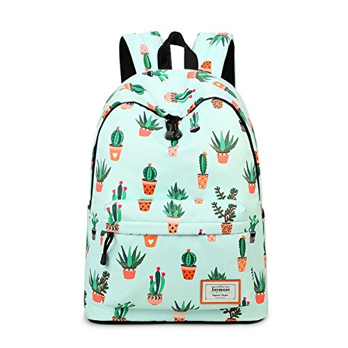 Joymoze Moderna Mochila de Ocio para Niñas Mochila Escolar para Adolescentes Mochila Bolso Estampado para Mujer Cactus