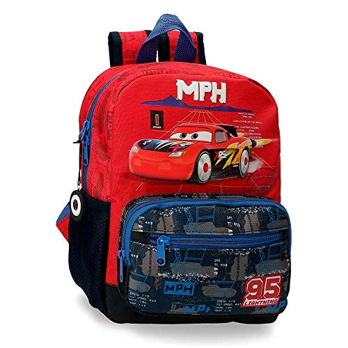 Disney Mochila Infantil Cars Rocket Racing Adaptable, Multicolor, 23x28x10 cm