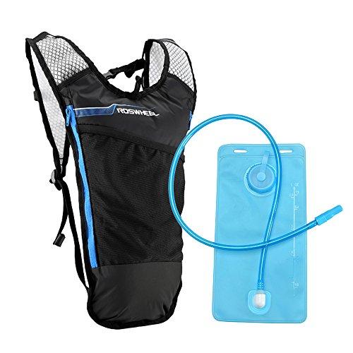 Lixada Mochila Hidratación 5L Mochila + 2L Bolsa de Agua Súper Ligero para Bicicleta Ciclismo Senderismo Excursionismo (Azul)