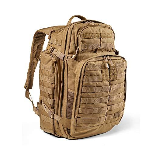 5.11 Mochila Táctica Rush 72 2.0 – Mochila Militar Molle, CCW Portación Oculta y Compartimento para Ordenador Portátil, 55 litros, Grande, Estilo 56565 – Color Canguro