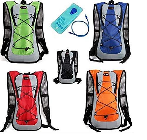 Theoutlettablet® Mochila Impermeable Bici para Ciclismo Bicicleta Bolsa Hidratacion Agua (2L) Mochila Capacidad 5 litros montaña - Senderismo - Btt - MTB - Tipo Camelbak