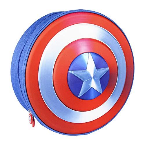 CERDÁ LIFE'S LITTLE MOMENTS - Mochila Infantil Capitan America de The Avengers en 3D - Licencia Oficial Marvel Studios, Azul, 310X310X100mm