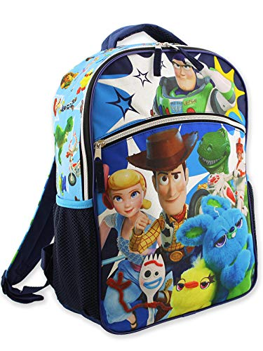 Disney Toy Story 4 Mochila escolar de 16 pulgadas para niño (talla única, azul)