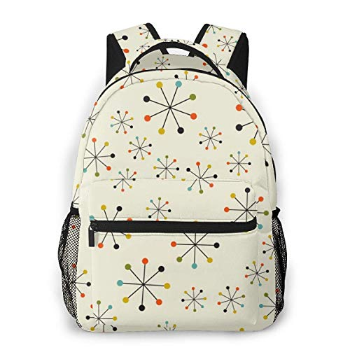 Shichangwei Mochila Escolar Backpack For Boy Girl Mid Century Absctract Geometric Pattern College School Book Bag Travel Hiking Camping Daypack