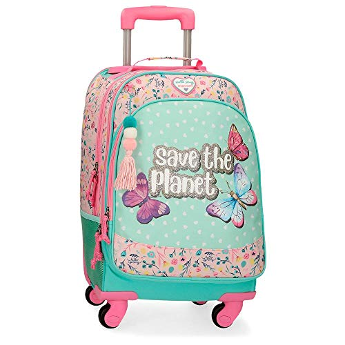 Movom Save The Planet Mochila 4 Ruedas Multicolor 32x44x21 cms Poliéster Reciclado 29.57L