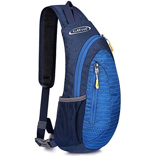 G4Free Bolsa de Pecho Sling Bag Impermeable Bandoleras Cruzada Mochilas Ligeras Multiusos para Adultos o Adolescentes