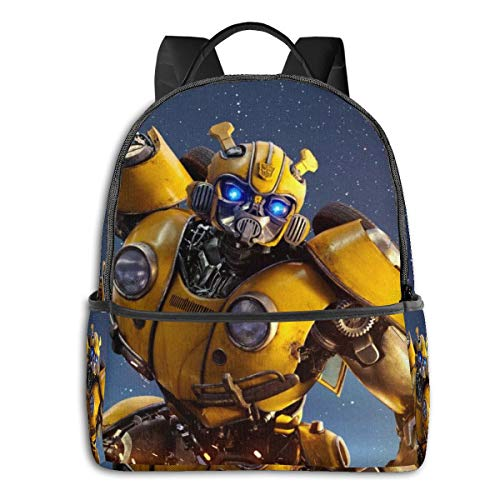 Transformers Bumblebee - Mochila unisex para estudiantes (36,8 x 30,5 x 12,7 cm)