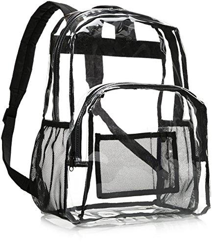 Amazon Basics - Mochila escolar - Transparente
