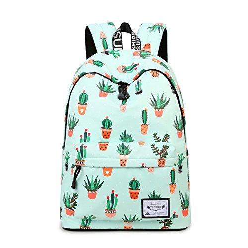 YANAIER Mochila escolar impermeable para niñas, adolescentes, linda impresión, bolsa de libros, portátil, mochila de viaje, informal, mochila de día