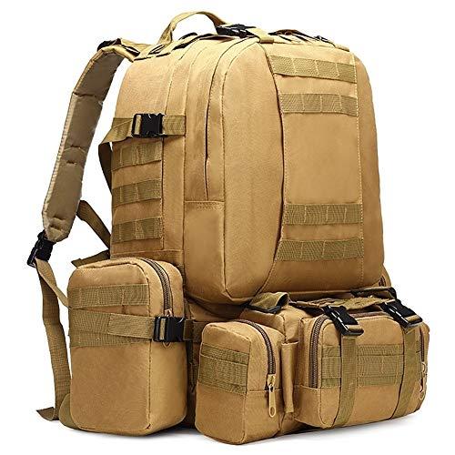 50L Mochila Táctica 4 En 1 Bolsas Militares Mochila del Ejército Molle Bolsa De Deporte Al Aire Libre Hombres Camping Senderismo Viajes Bolsa De Escalada (Capacity : 50 70L, Color : 10)