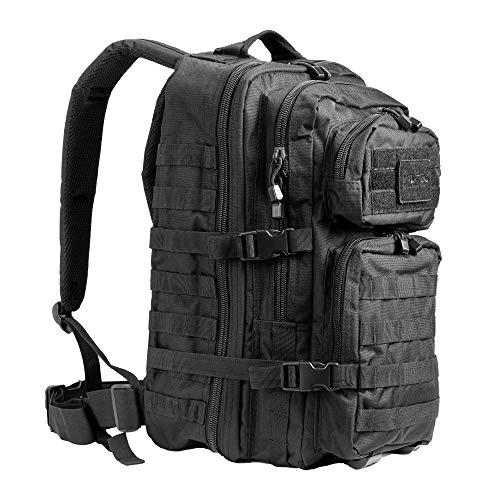 Pack de asalto MOLLE táctico con mochila de patrulla 36L, Negro