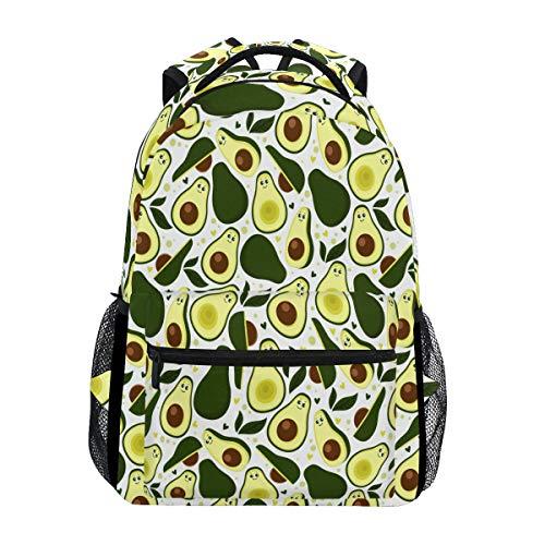 Mochila de hojas de aguacate frescas, impermeable, bolsa de hombro, mochila de gimnasio, fruta verde, bolsa de viaje al aire libre para niños, niñas, mujeres y hombres