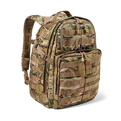 5.11 Mochila Táctica Rush 24 2.0 – Mochila Militar Molle, CCW Portación Oculta y Compartimento para Ordenador Portátil, 37 litros, Mediana, Estilo 56564 – Color Multicam