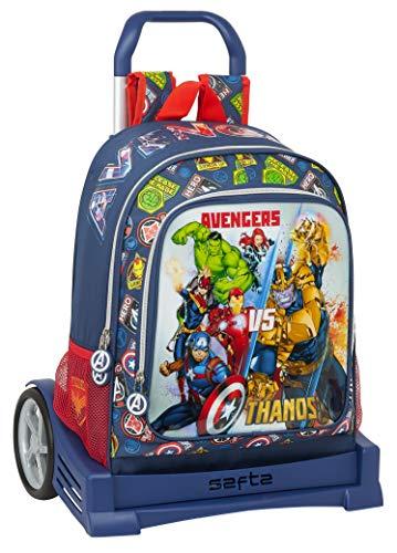 safta Mochila 522 Espalda Ergonómica con Carro Evolution de Avengers Heroes Vs Thanos, 320x140x420mm, azul marino/multicolor, m (M860C)