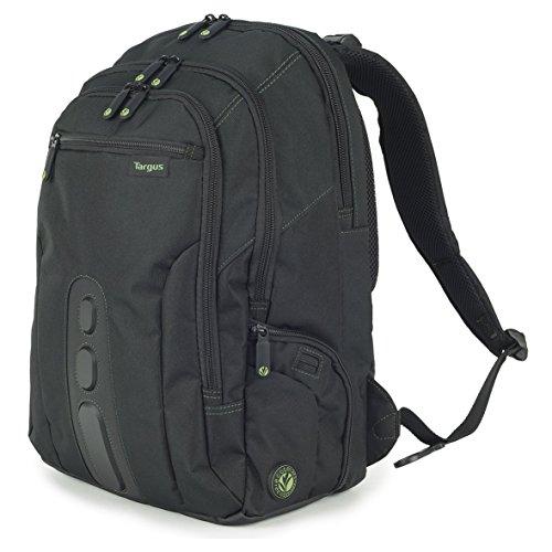 Targus EcoSpruce - Mochila de 27 litros Ideal para viajes de trabajo, estudio, gimnasio y fin de semana, se adapta a la mayoría de las laptops de hasta 15.6 '- Negro