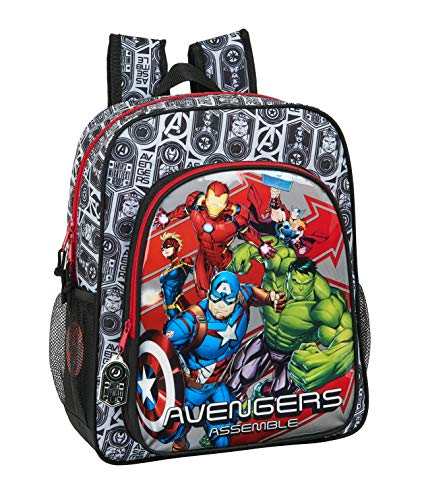 safta 612079640 Mochila Junior Niña Adaptable Carro Avengers, Multicolor