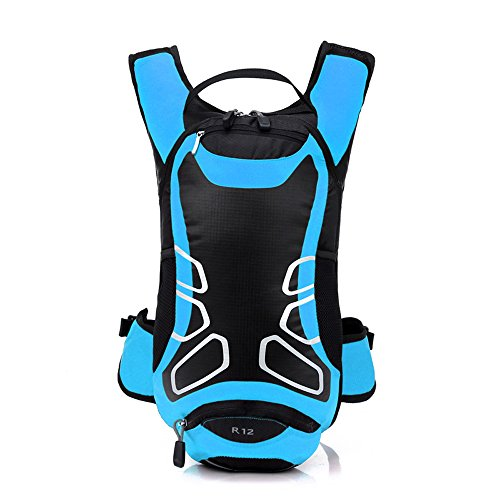 Lixada - Mochila impermeable de ciclismo de 12 L, mochila ultra ligera para ciclismo, para equitación en el exterior, montañismo, para hidratación, azul
