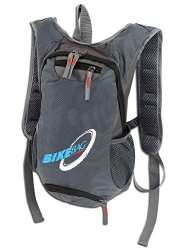 Mochila para bicicleta, senderismo y deportes al aire libre | Mochila para bicicleta ultraligera en 2 colores | Acolchada | Con cierre de seguridad adicional (4068), gris