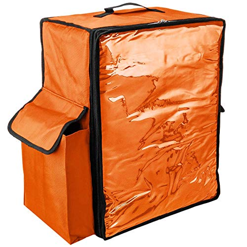 PrimeMatik - Mochila isotérmica 39 x 50 x 25 cm Naranja para Comidas al Aire Libre y Entrega de Pedidos de Comida en Moto o Bicicleta