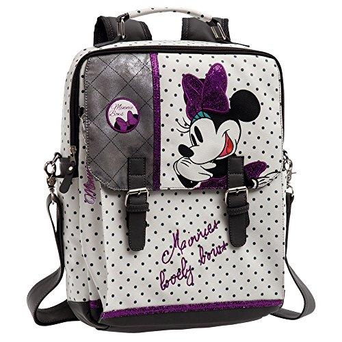 Disney Minnie Bows Mochila Portaordenador, Color Blanco, 10.47 litros