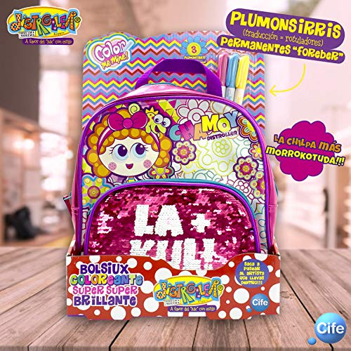 Chamoy- Distroller Bolsiux Coloreant Súper Brillante Mochila, Multicolor (Cife Spain 1)