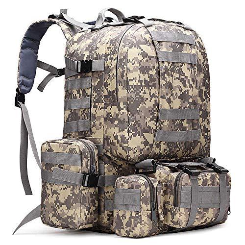 50l Mochila táctica 4 en 1 Bolsas Militares Mochila Mochila al Aire Libre Bolsa de Deporte Hombres Camping Senderismo Viaje Escalada Bolsa 50-70L 2